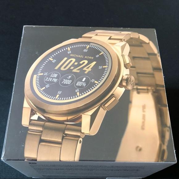 b000cfec8f1f Michael Kors Access Grayson Smartwatch Gold